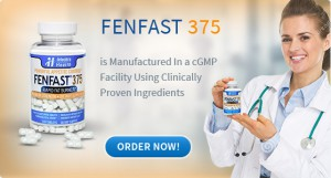 Doctor holidng bottle of FENFAST 365 is Manufactured in a cGMP facility